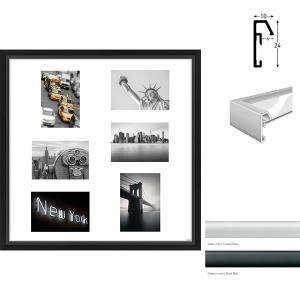 Galerie-Bilderrahmen Junior Quadratisch 6 Bilder
