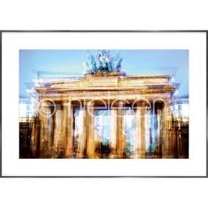 """Gerahmtes Bild """"Brandenburg Gate"""" mit Alurahmen Alpha"""