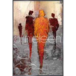 "Gerahmtes Bild ""Abstract Figures Red"" mit Alurahmen Alpha"