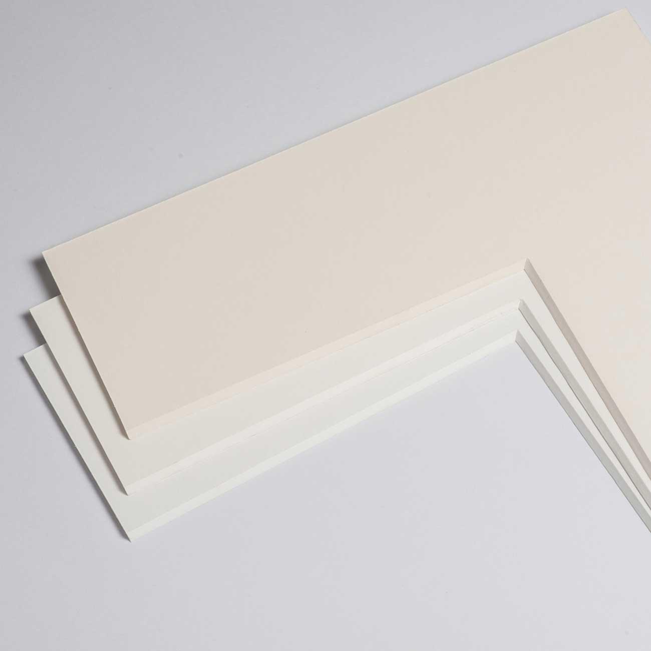 2,3 mm Baumwoll-Passepartout mit individuellem Ausschnitt