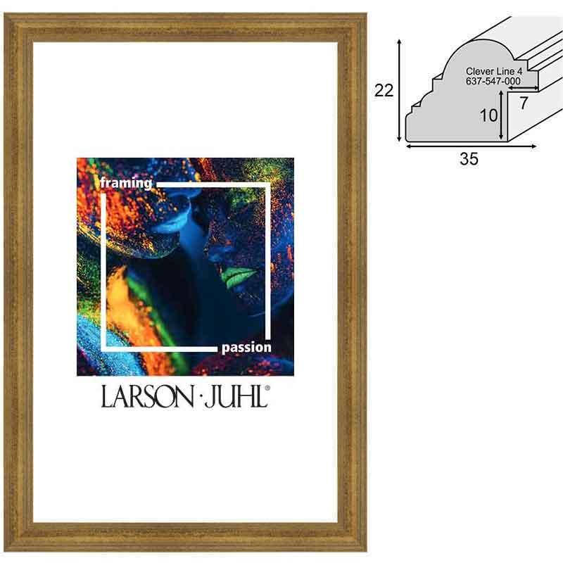 Holz-Bilderrahmen Clever Line 4 - 3,5 - Sonderzuschnitt