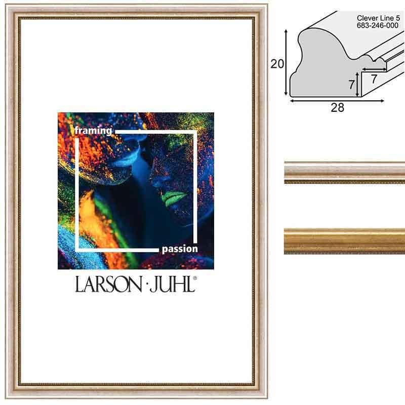 Holz-Bilderrahmen Clever Line 5 - 2,8 - Sonderzuschnitt