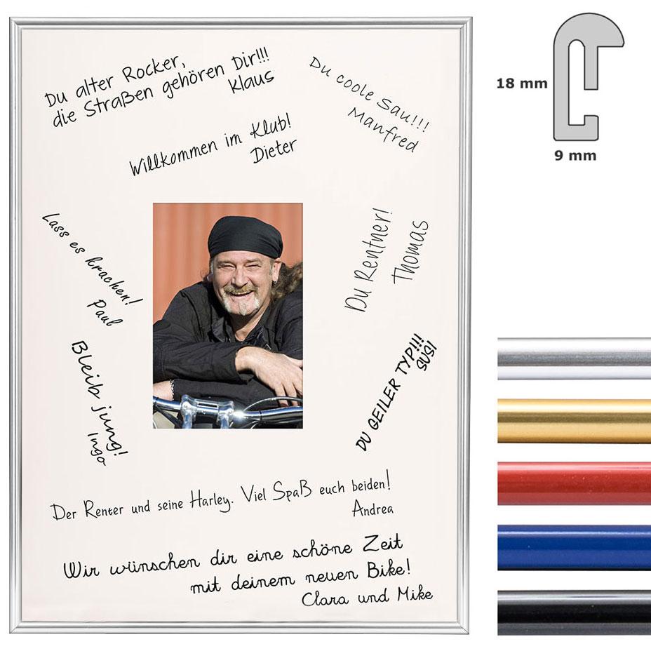 Signatur-Bilderrahmen aus Kunststoff - 30x40 cm