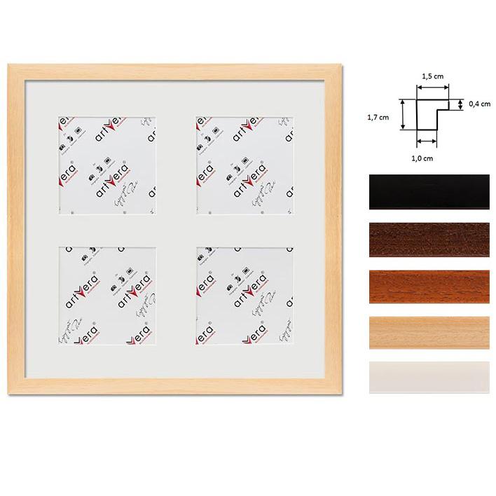 """4er Galerierahmen """"Uppsala"""", 30x30 cm - 10x10 cm"""