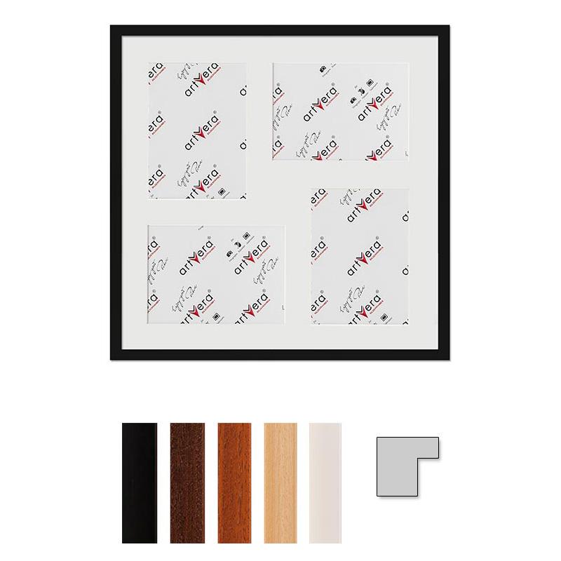 """4er Galerierahmen """"Uppsala"""", 50x50 cm - 15x20 cm"""