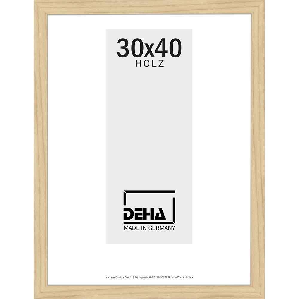 Distanz-Holzrahmen Winnecke 20x28 cm   Ahorn natur lasiert   Kunstglas