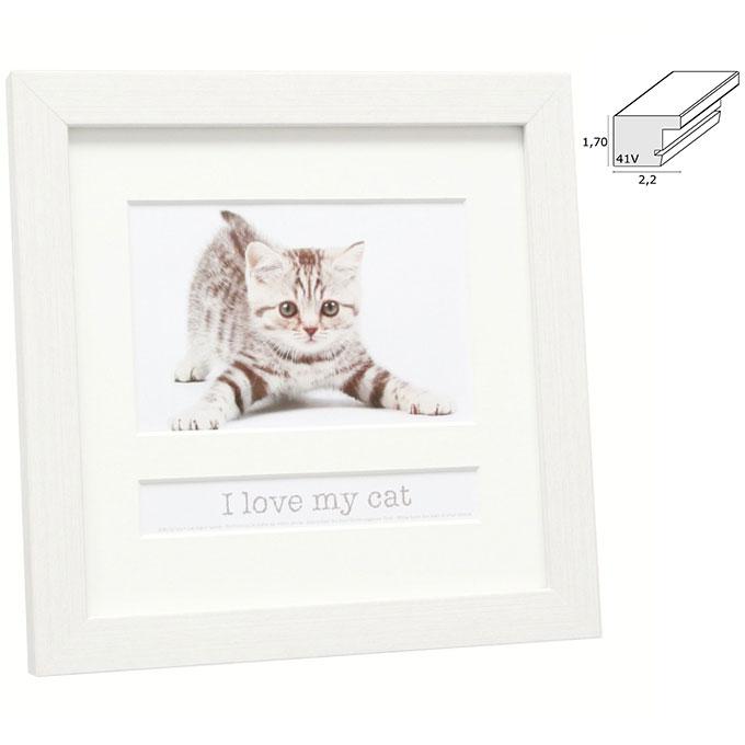 "Fotorahmen mit Textfach ""I love my cat"""