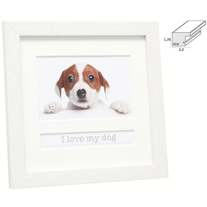 """Fotorahmen mit Textfach """"I love my dog"""""""