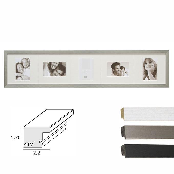 """5er-Galerierahmen """"Vorselaar"""" mit drehbarem Passepartout"""