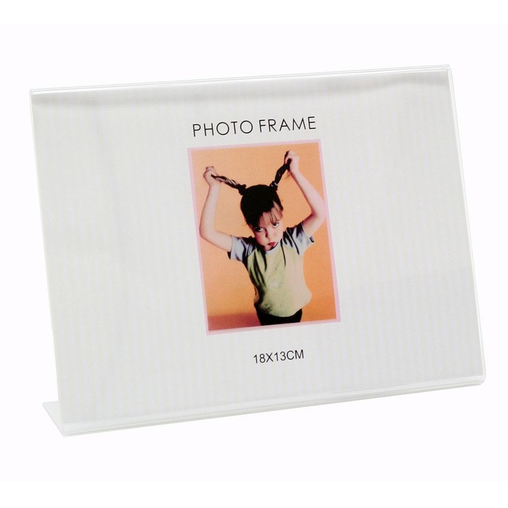 Plexirahmen mit Aufsteller, horizontal 10x15 cm   Transparent