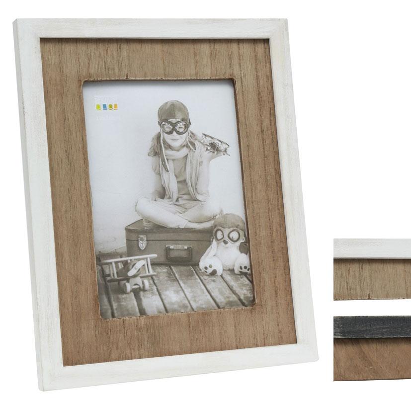 Fotorahmen mit Holzpassepartout