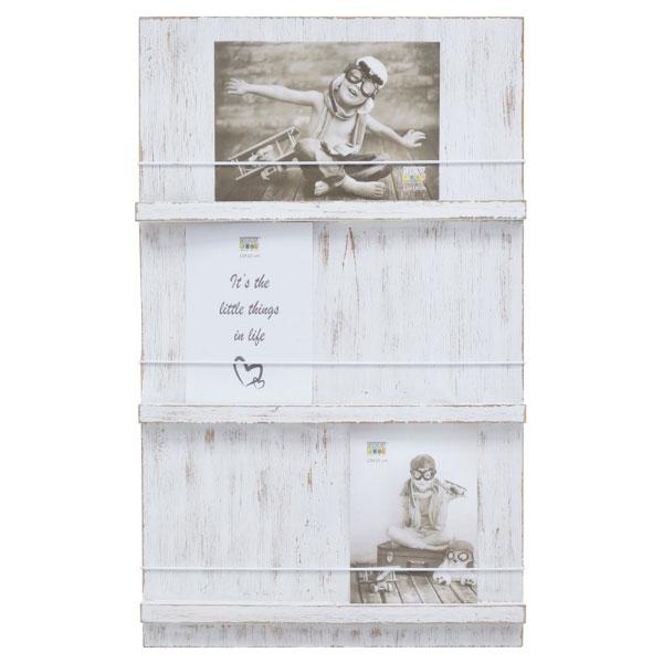 Bildhalter weiß gemalt mit 3 Ebenen