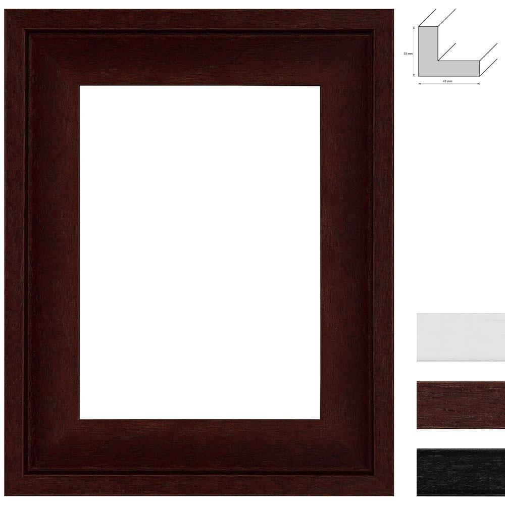 Bilderrahmen Holz Zuschnitt ~ Doehnert Schattenfuge Zuschnitt Rochford Braun  Leerrahmen (ohne Glas