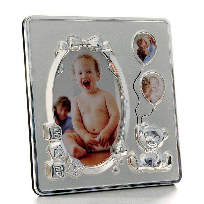 Baby-Fotorahmen mit Zierprofil