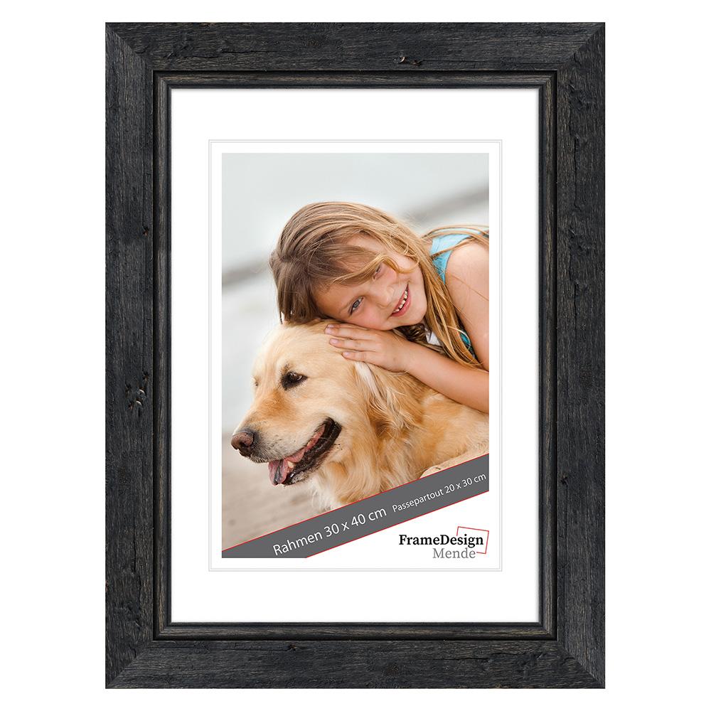 fdm holzrahmen barnafoss 10x13 cm schwarz leerrahmen ohne glas r ckwand. Black Bedroom Furniture Sets. Home Design Ideas
