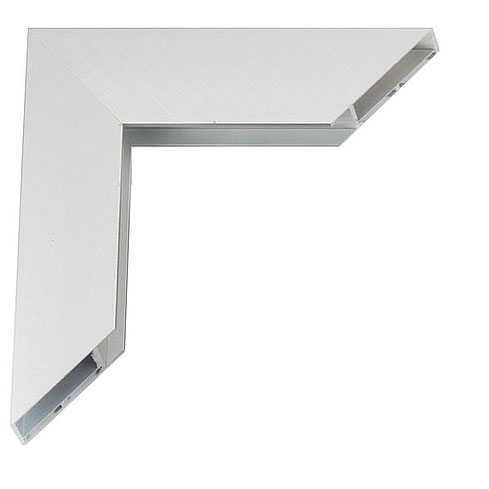 Giga Alu-Bilderrahmen Maßanfertigung Silber matt, kreuzgebürstet | Kunstglas