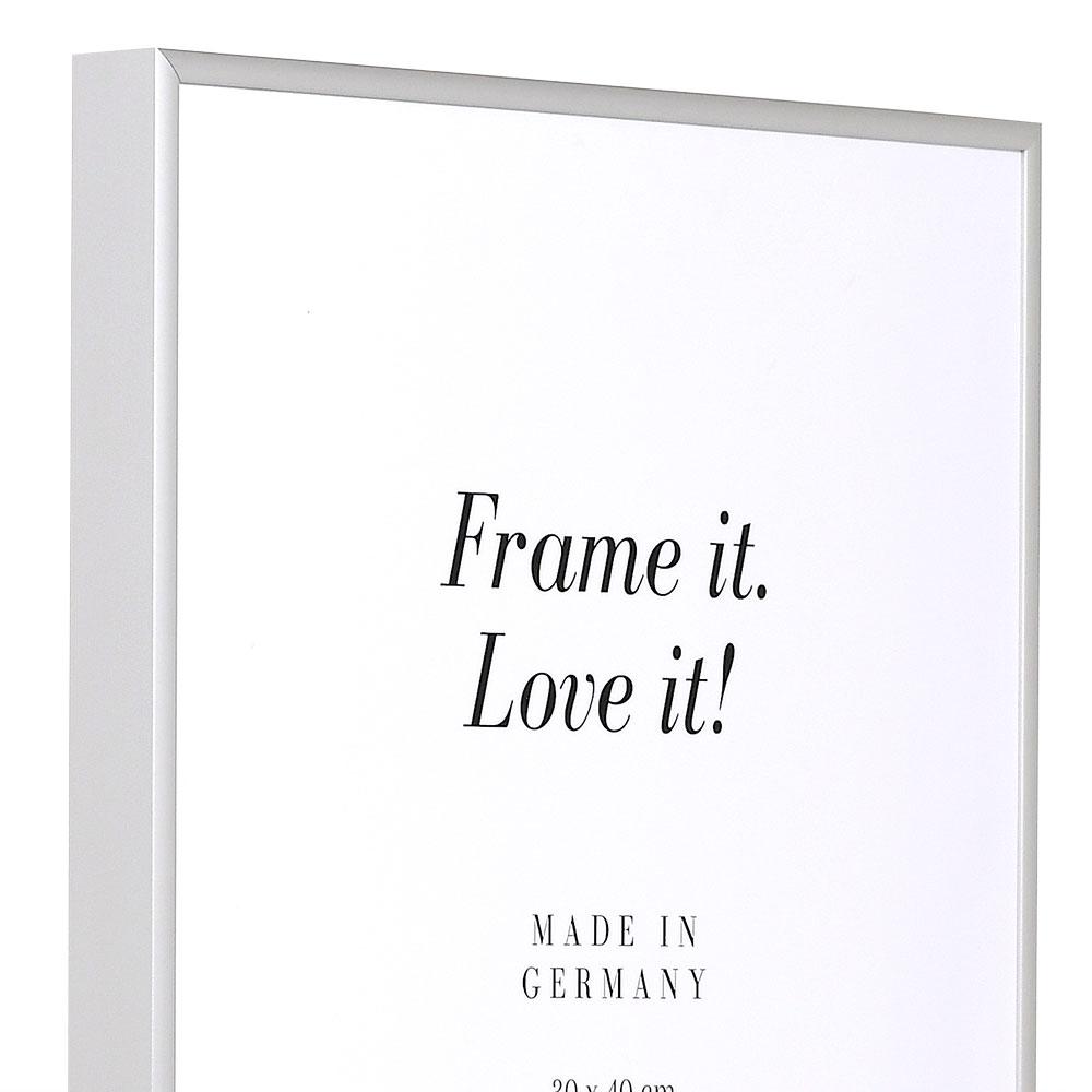 Alurahmen Quadro XL Maßanfertigung silber matt | Kunstglas entspiegelt