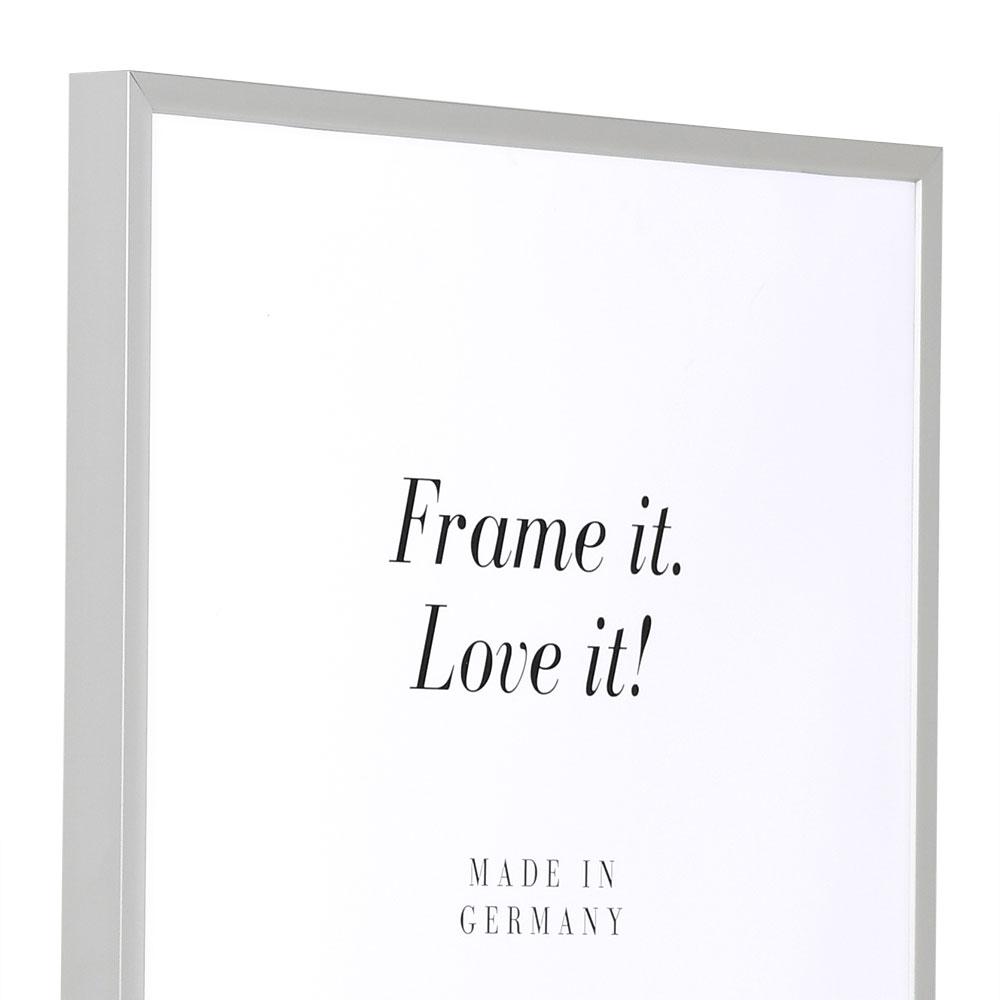 Alurahmen Econ eckig 18x24 | silber matt | Normalglas