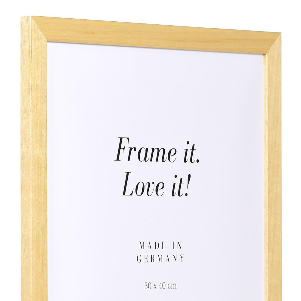 mira spar rahmen aus holz 70x100 natur kunstglas. Black Bedroom Furniture Sets. Home Design Ideas