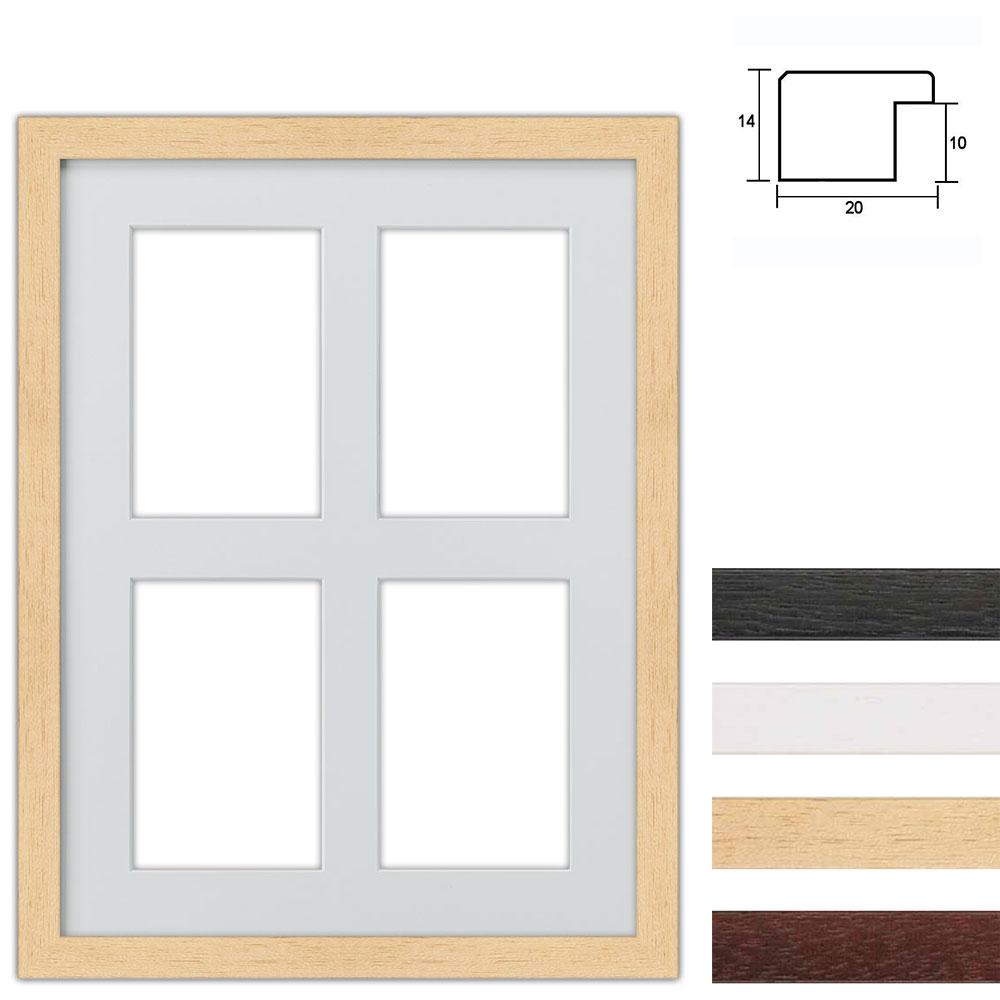 4er Galerierahmen aus Holz in 30x40 cm