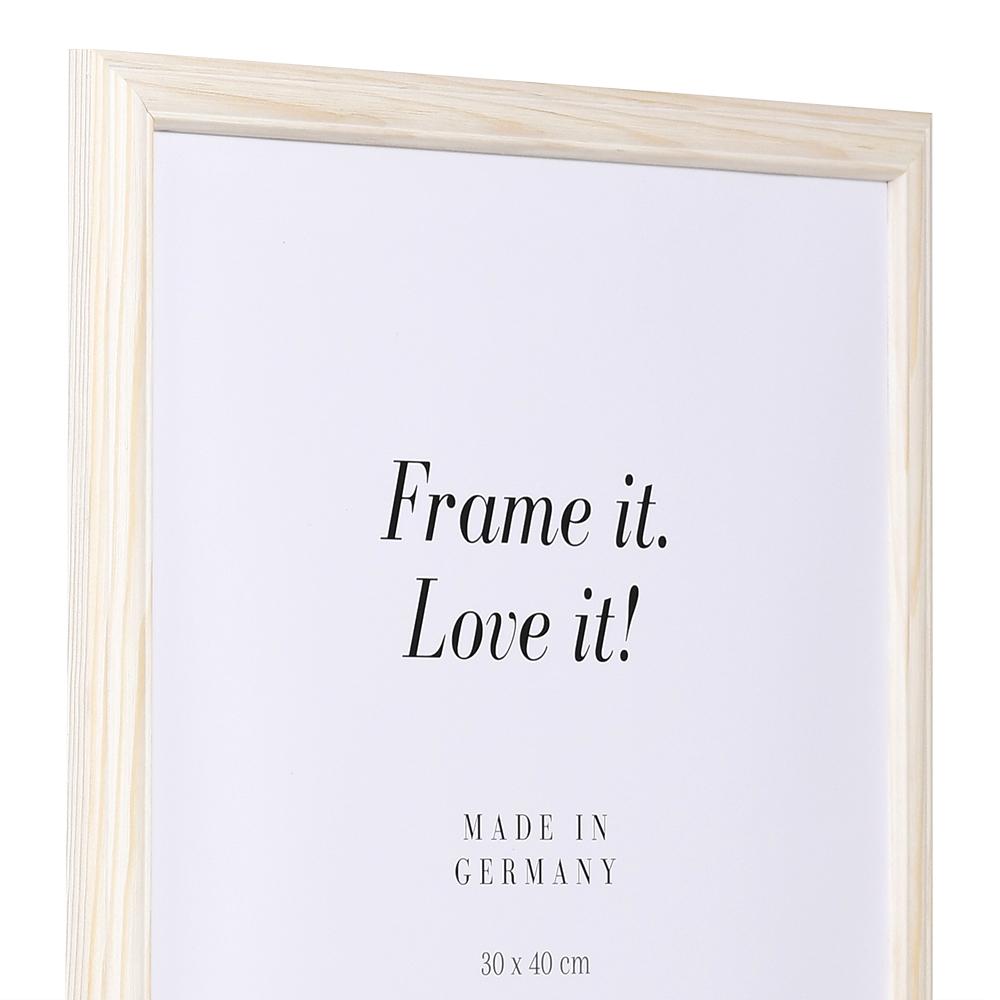 mira holzrahmen saint michel 9x13 natur wei leerrahmen ohne glas r ckwand. Black Bedroom Furniture Sets. Home Design Ideas