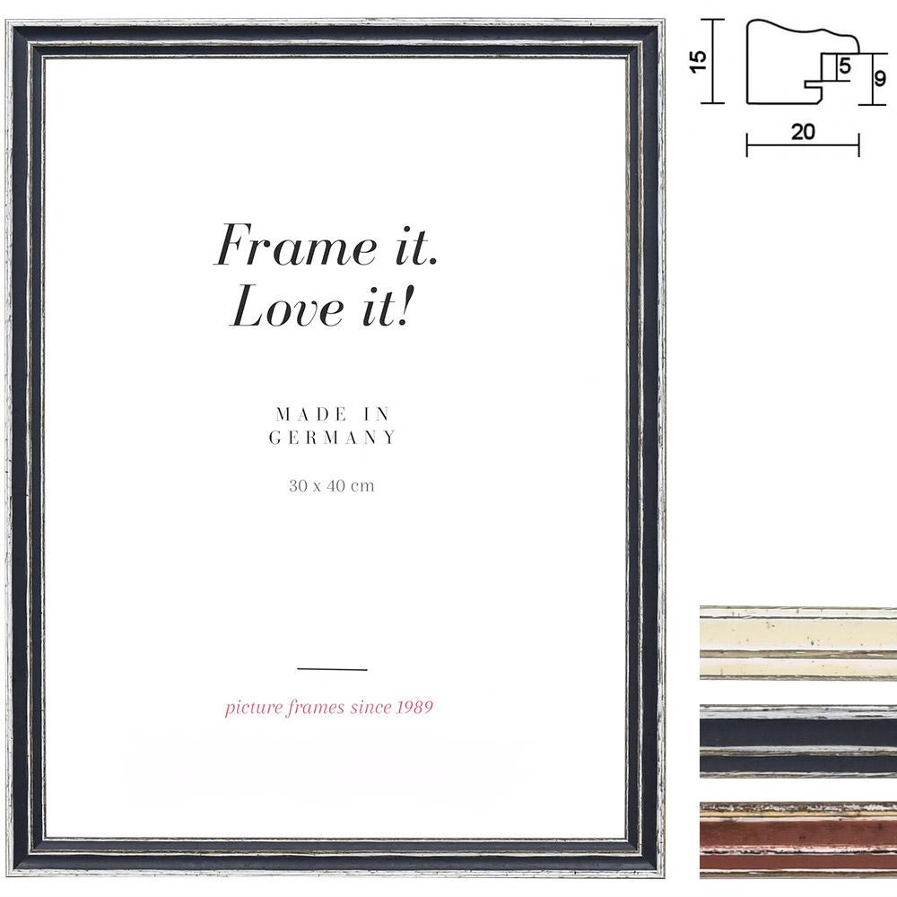 mira holzrahmen dijon 9x13 grau leerrahmen ohne glas r ckwand. Black Bedroom Furniture Sets. Home Design Ideas