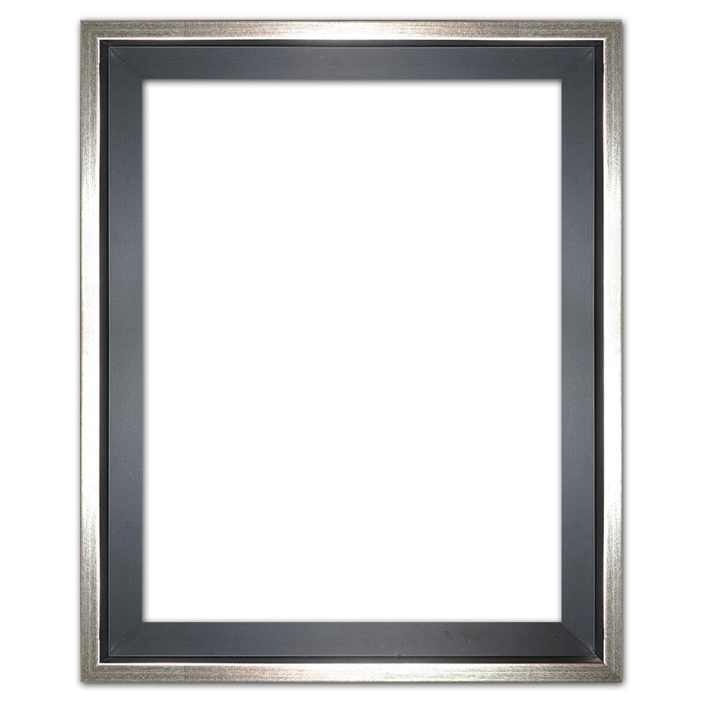 mira schattenfugenrahmen eclipse schwarz in ma anfertigung schwarz mit silberkante leerrahmen. Black Bedroom Furniture Sets. Home Design Ideas