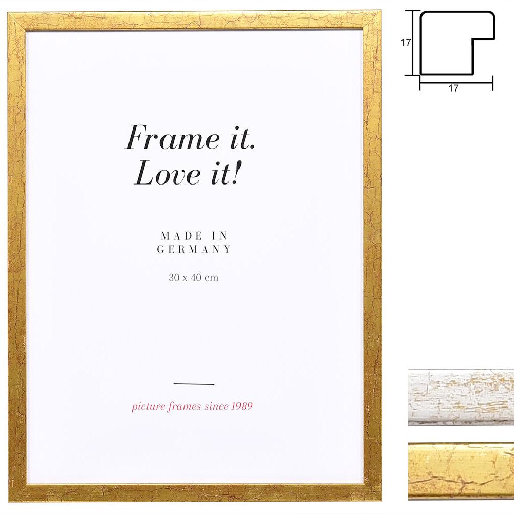 mira holz bilderrahmen aulon 25x80 cm antikgold normalglas. Black Bedroom Furniture Sets. Home Design Ideas