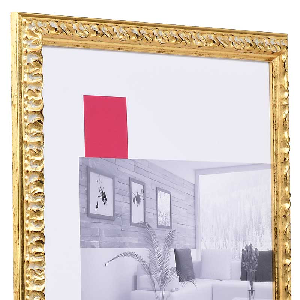 Barockrahmen Rémelfing 18x24 | gold | Normalglas