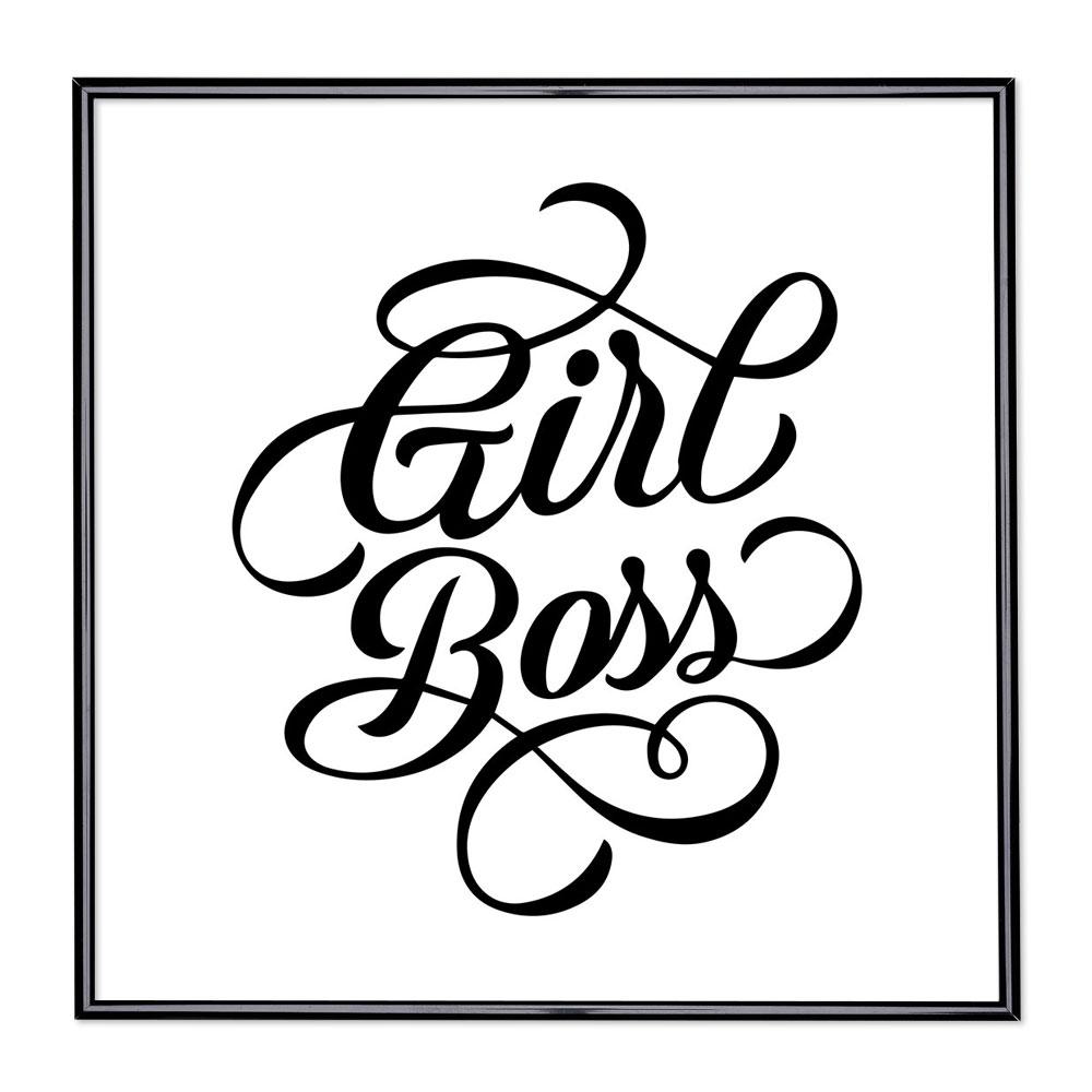 Bilderrahmen mit Spruch - Girl Boss