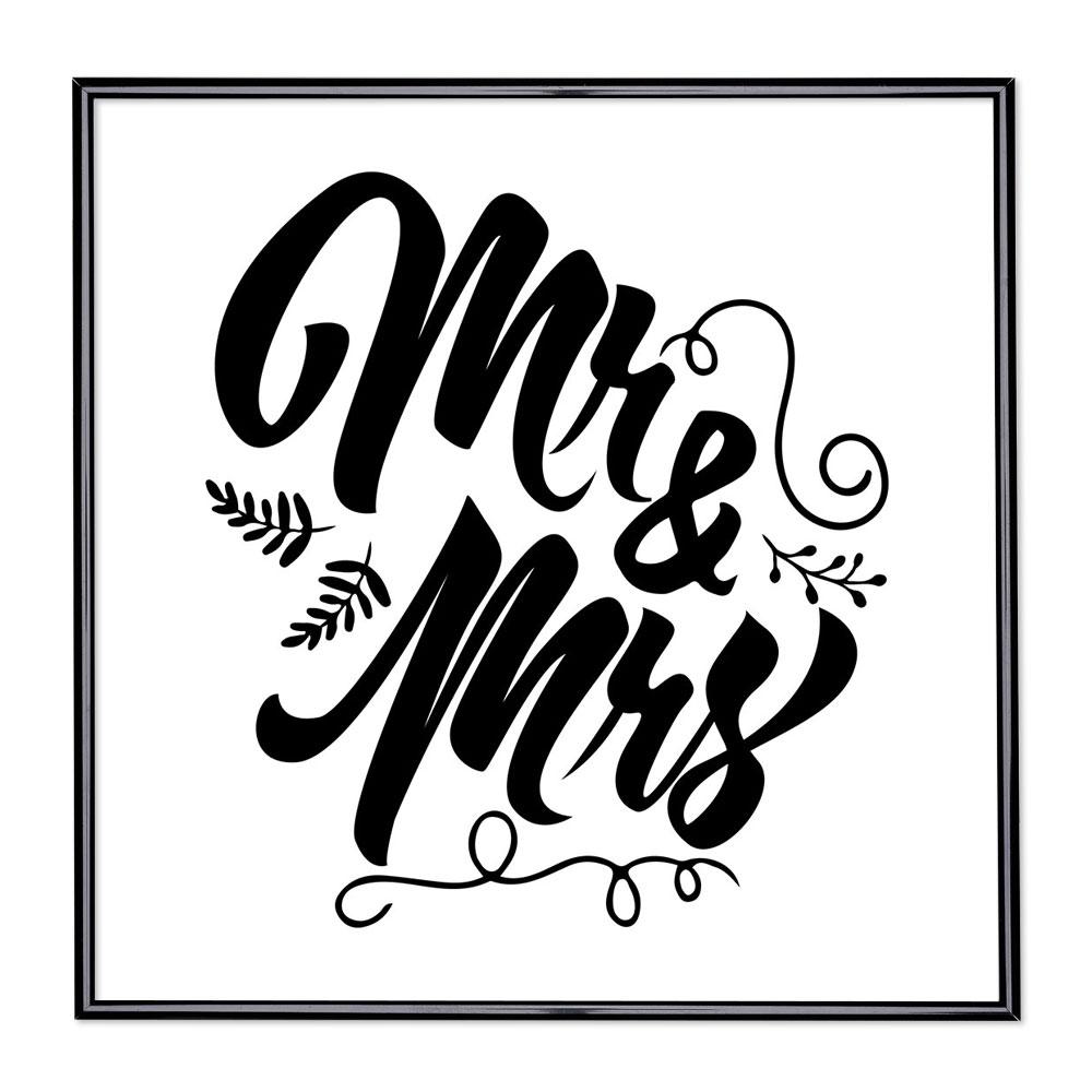 Bilderrahmen mit Spruch - Mr & Mrs