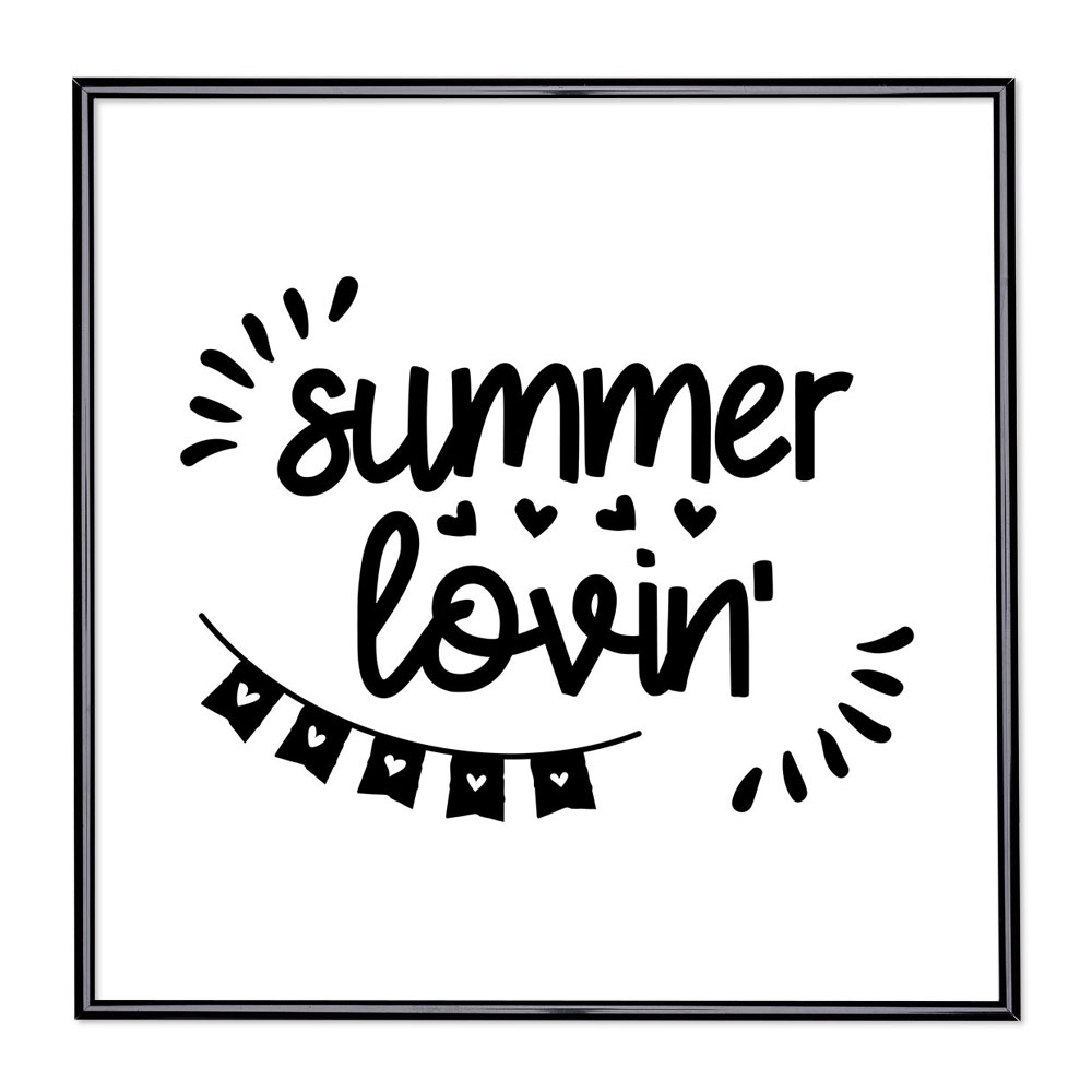 Bilderrahmen mit Spruch - Summer Lovin