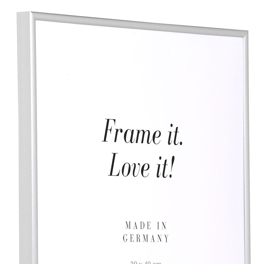 Kunststoffrahmen Art - Alu-Like 18x24 cm | Silber matt | Normalglas