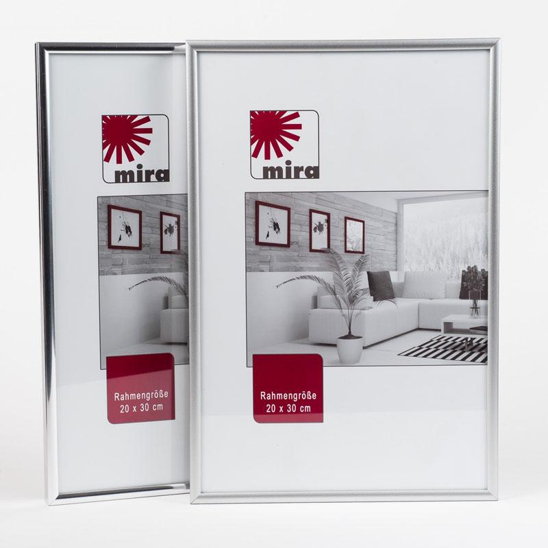 "Kunststoffrahmen ""Art"" - Alu-Like 18x24 | Silber matt | Normalglas"
