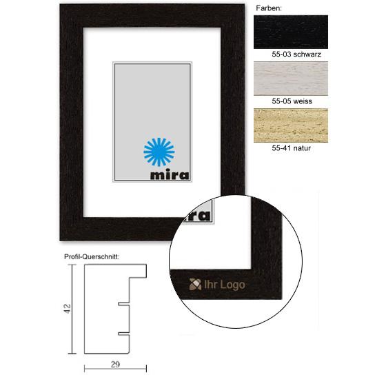 mira holzrahmen mit logo nouvelle 9x13 schwarz leerrahmen ohne glas r ckwand. Black Bedroom Furniture Sets. Home Design Ideas