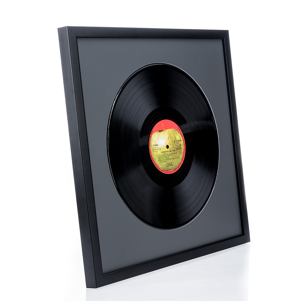 """Holzrahmen """"Top Cube"""" für Vinyl-Schallplatten"""
