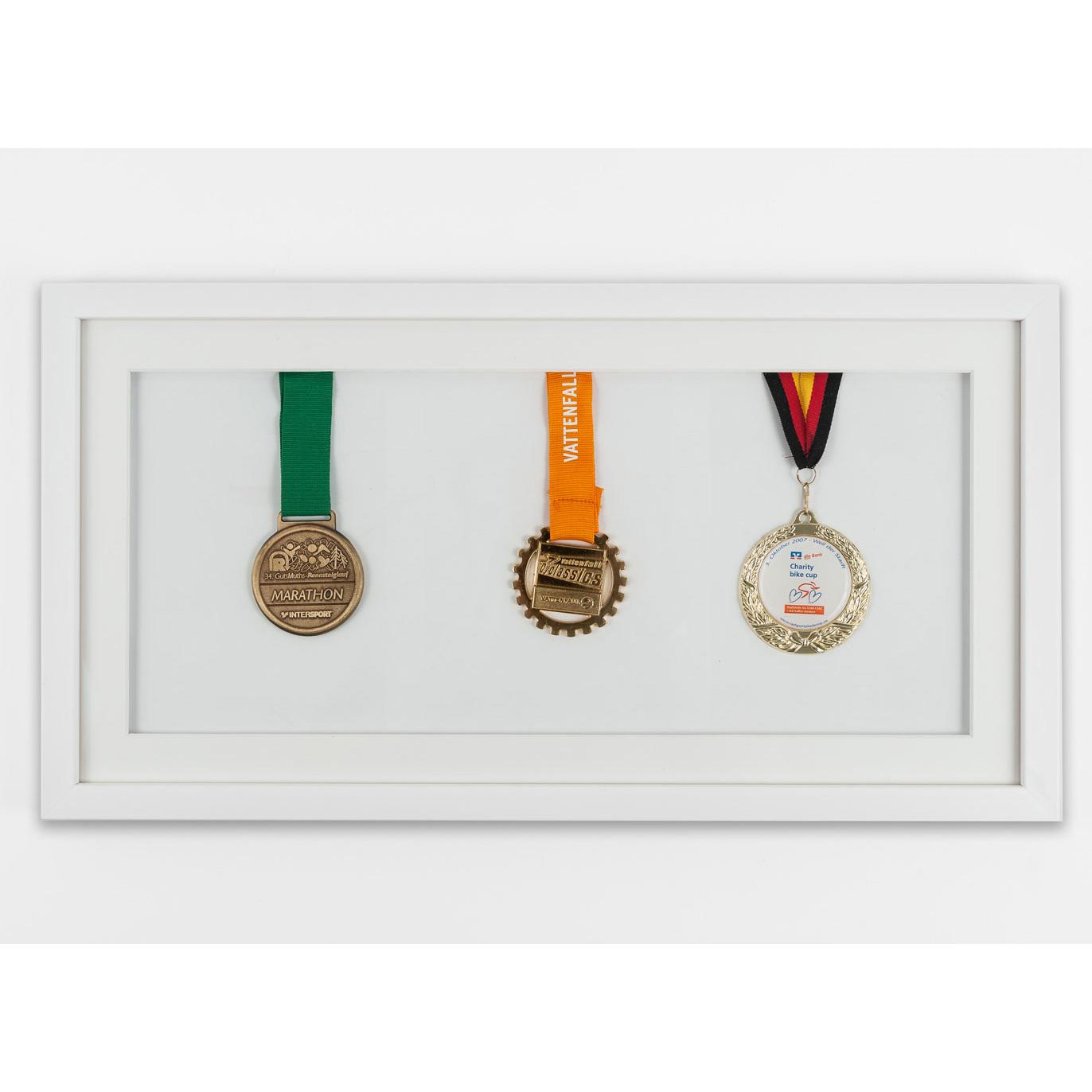 Medaillenrahmen 25x50 cm, weiß