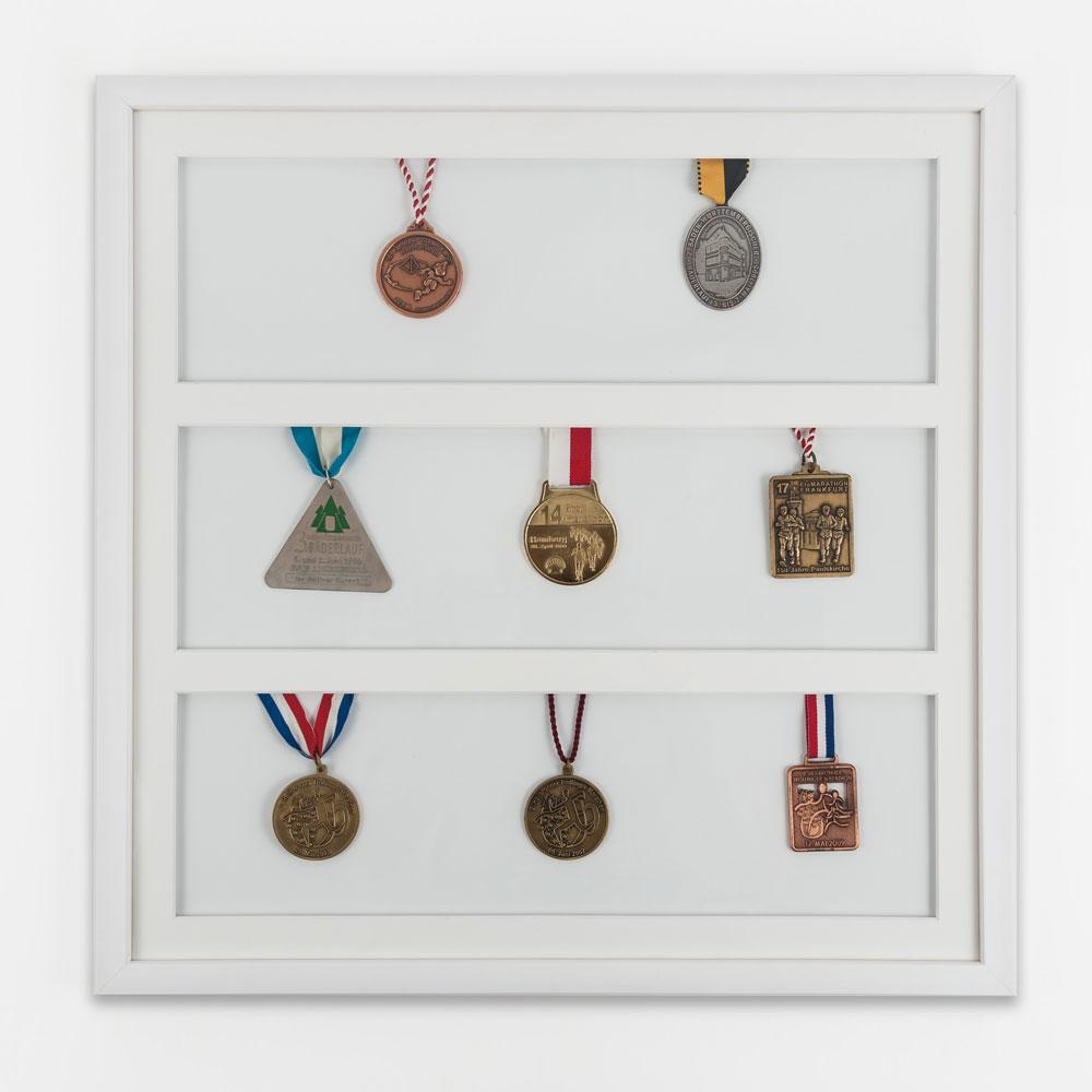 Medaillenrahmen 50x50 cm, weiß