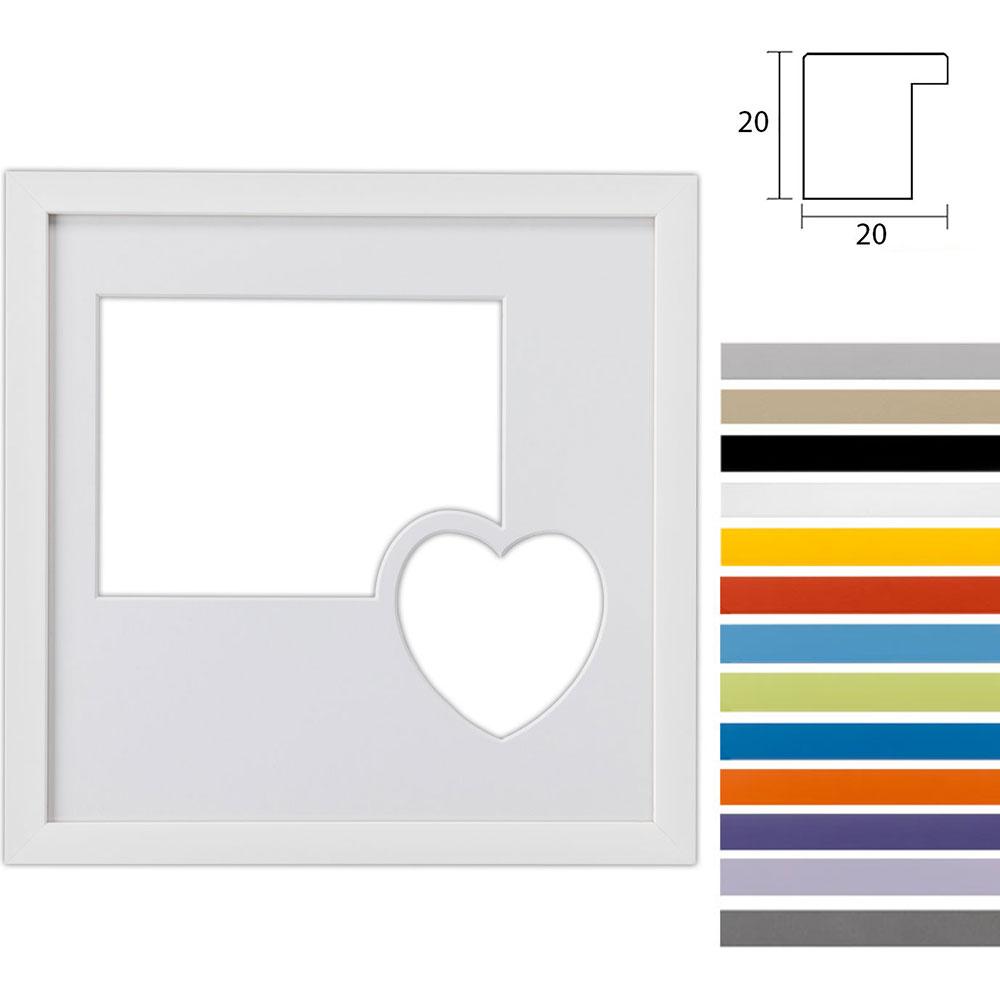 2er Galerierahmen Top Cube in 30x30 cm mit Herz