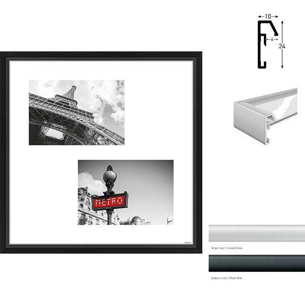 Galerie-Bilderrahmen Junior Quadratisch 2 Bilder