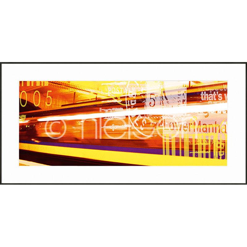 """Gerahmtes Bild """"Metro Lower Manhattan"""" mit Alurahmen C2"""