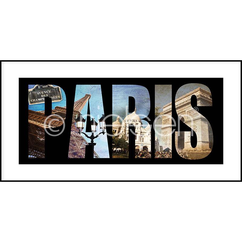 """Gerahmtes Bild """"Paris"""" mit Alurahmen C2"""