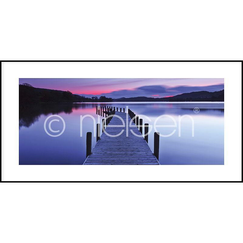 """Gerahmtes Bild """"Footbridge Sunset"""" mit Alurahmen C2"""