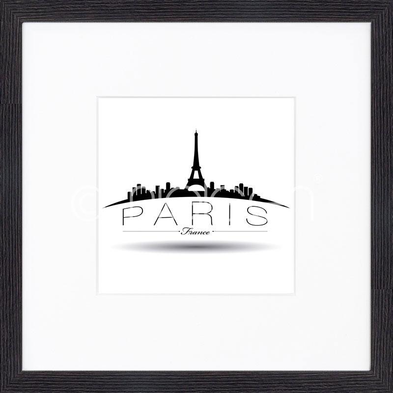 """Gerahmtes Bild """"Paris"""" mit Holzrahmen Quadrum"""