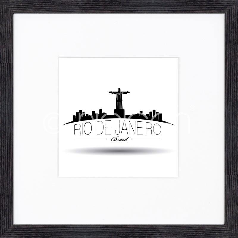 "Gerahmtes Bild ""Rio de Janeiro"" mit Holzrahmen Quadrum"