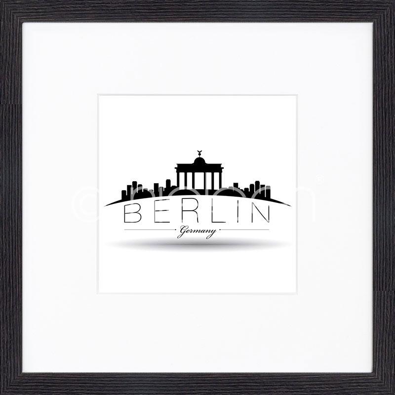 "Gerahmtes Bild ""Berlin"" mit Holzrahmen Quadrum"