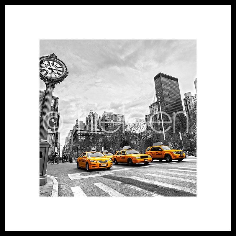 "Gerahmtes Bild ""New York Taxi"" mit Alurahmen C2"