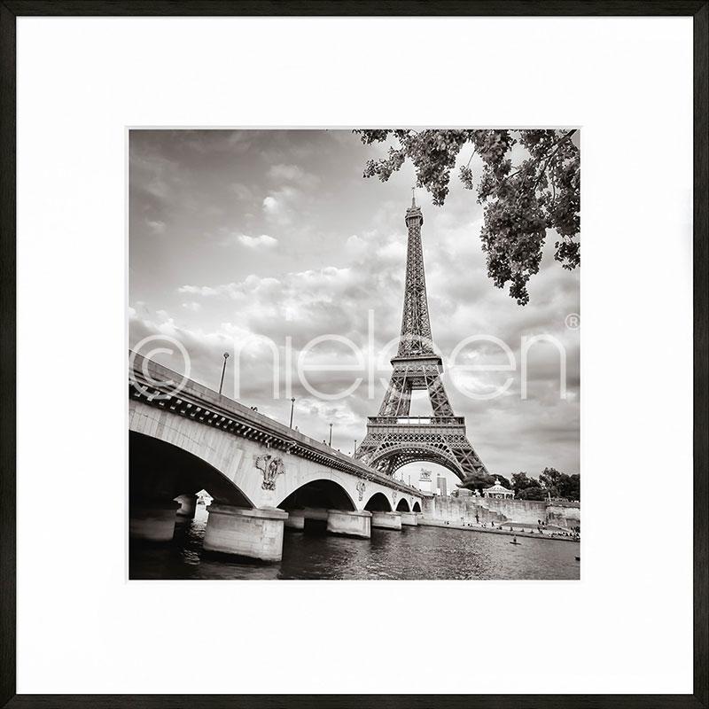 """Gerahmtes Bild """"Paris black and white"""" mit Alurahmen C2"""