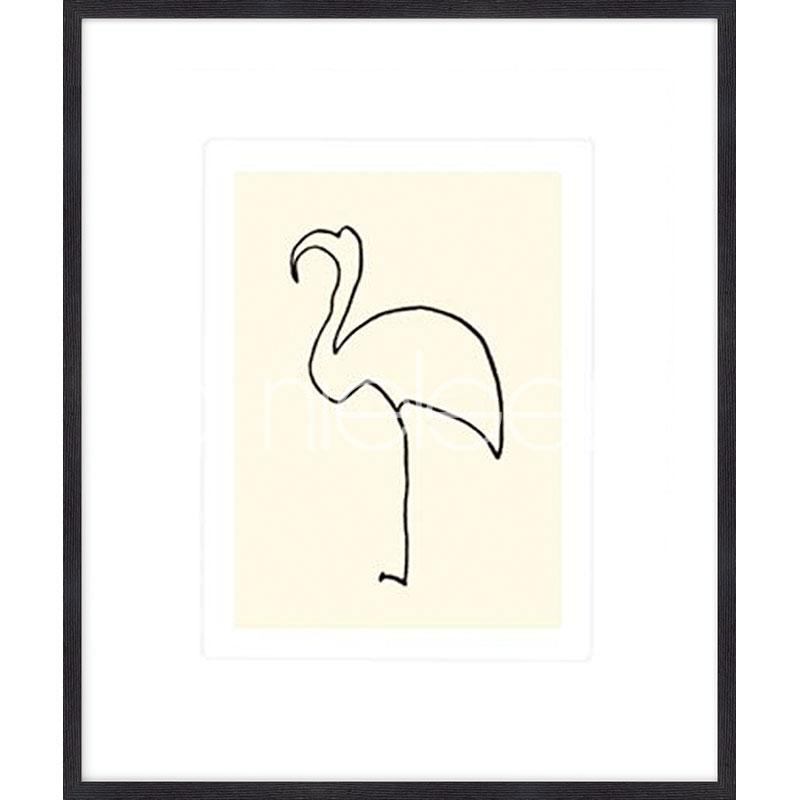 "Gerahmtes Bild ""Le flamand rose Picasso 1907"" mit Holzrahmen Quadrum"