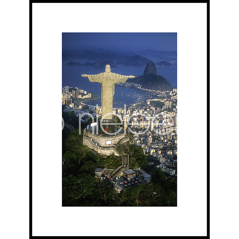 "Gerahmtes Bild ""Cristo Redentor"" mit Alurahmen C2"